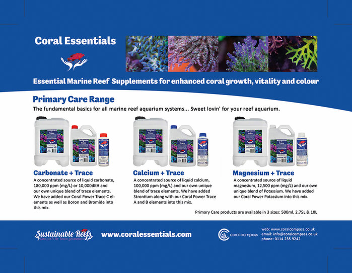 Coral Essentials Primary Care + Trace arrives in the UK!